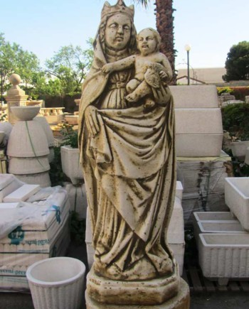 figura piedra artificial Virgen del Pilar